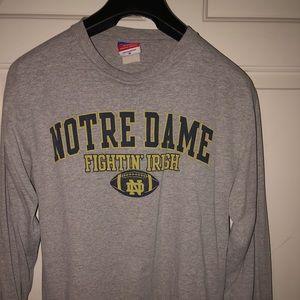 Vintage Notre Dame Long Sleeved Tee Size Medium
